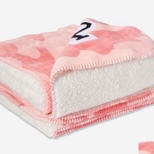 "PINK Victoria Secret Sherpa ""Candy Camo"" Blanket"